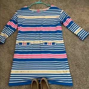 Lilly Pulitzer Bennet dress with gold stripes
